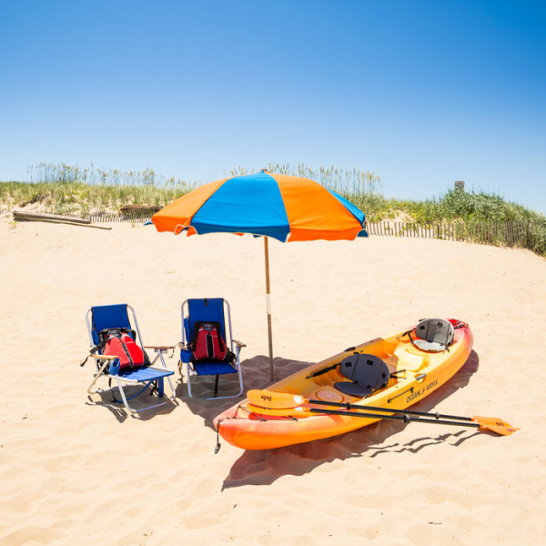 Beach equipment rentals for Sandbridge with free delivery.